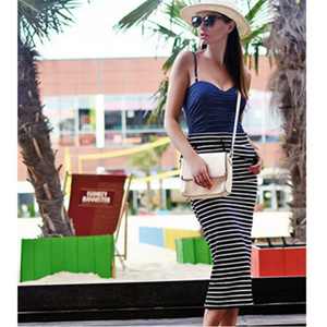 Long Striped Skirt