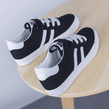 Load image into Gallery viewer, Striped Canvas Sneakers