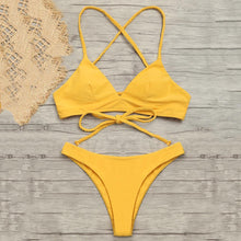 Load image into Gallery viewer, Solid Color Bikini Set