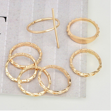 Load image into Gallery viewer, Cross Ring Set (7 Pieces)