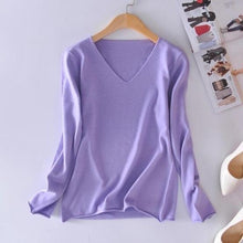 Load image into Gallery viewer, Solid V-Neck Sweater