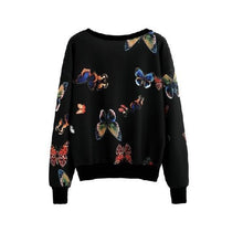 Load image into Gallery viewer, Butterfly Print Sweatshirt