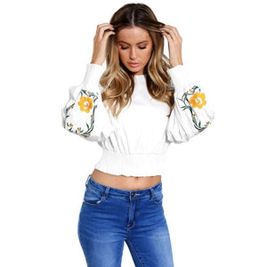 Floral Crop Sweatshirt