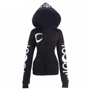 Large Hat Zip-Up Fleeced Hoodie