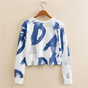 O-Neck Crop Sweatshirt