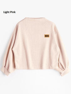 Oversized Lantern Sleeve Sweatshirt