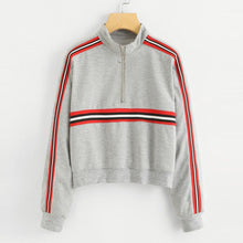 Load image into Gallery viewer, Striped Turtleneck Sweatshirt