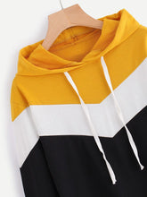 Load image into Gallery viewer, Two Tone Hooded Shirt
