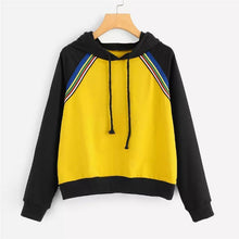 Load image into Gallery viewer, Two Tone Striped Hoodie