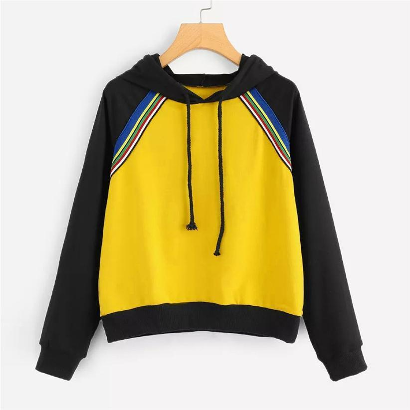 Two Tone Striped Hoodie