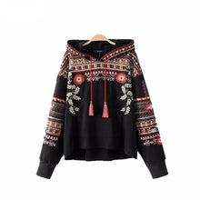 Load image into Gallery viewer, Vintage Totem Embroidery Hoodie