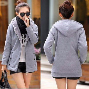 Zip-Up Thick Hoodie