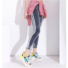 Load image into Gallery viewer, Striped Velvet Leggings