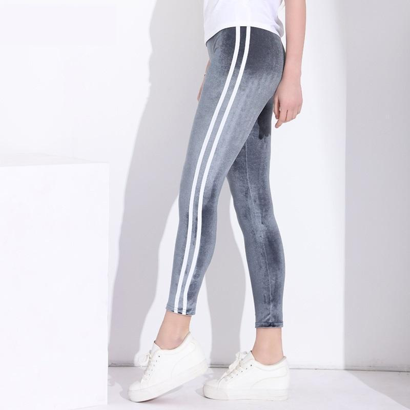 Striped Velvet Leggings