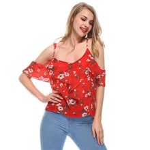Load image into Gallery viewer, Ruffled Floral Off-Shoulder