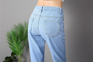 Shredded Denim Pants
