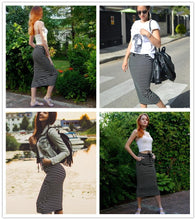 Load image into Gallery viewer, Long Striped Skirt