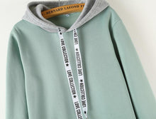 Load image into Gallery viewer, Solid Patchwork Hoodie