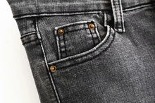 Load image into Gallery viewer, Button-Up Elastic Jeans