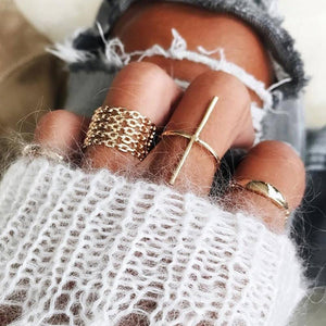 Cross Ring Set (7 Pieces)