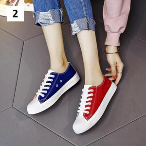 Two Tone Canvas Sneakers