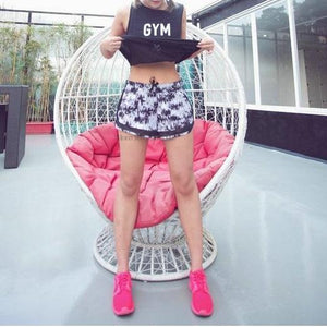 Mesh Patchwork Sports Shorts
