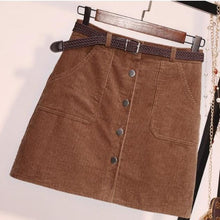 Load image into Gallery viewer, Corduroy Mini Skirt