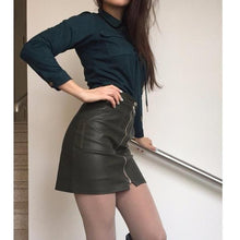 Load image into Gallery viewer, PU Leather Mini Skirt