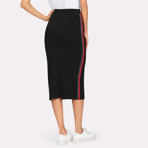 Side Striped Skirt