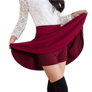 Solid A-Line Mini Skirt