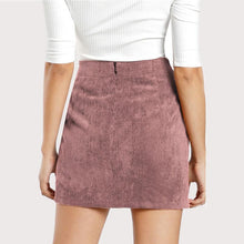 Load image into Gallery viewer, Solid Corduroy Bodycon Skirt