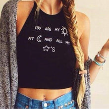Load image into Gallery viewer, Letter Print Backless Tank Top
