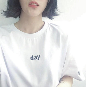 DAY/NIGHT Embroidery T-Shirt