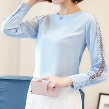 Load image into Gallery viewer, Lace Sleeve Blouse