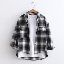 Load image into Gallery viewer, Loose Plaid Shirt