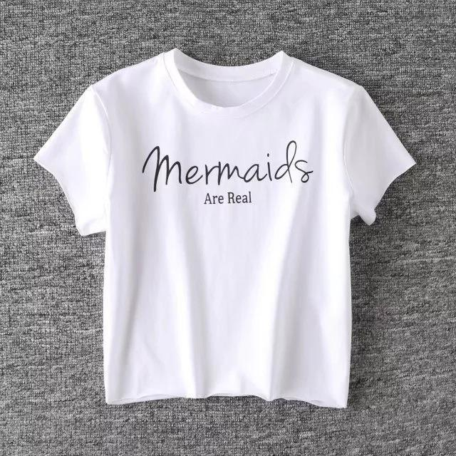 'Mermaids Are Real' Crop T-Shirt