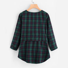 Load image into Gallery viewer, Plaid Blouse