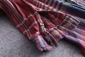 Plaid European Style Shirt