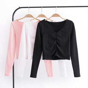 Ruched Crop Shirt