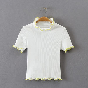 Scallop Turtleneck T-Shirt