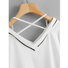 Load image into Gallery viewer, Striped V-Neck Short T-Shirt