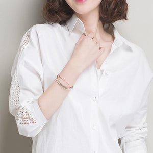 Turn-Down Collar Button-Up Shirt