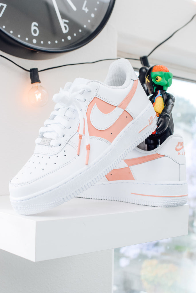 """50/50"" Light Pink Air Force 1's"