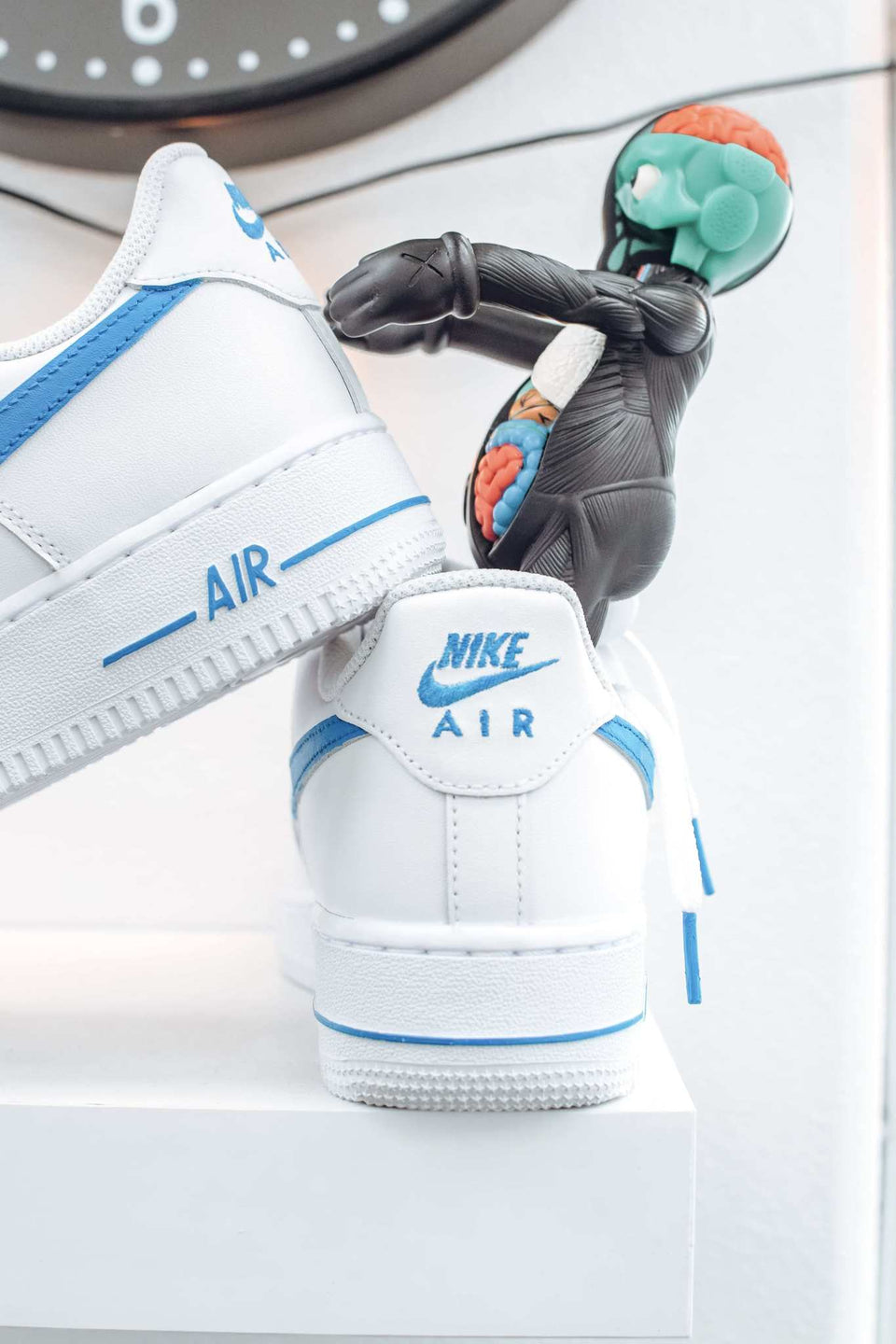 "Light Blue ""Swoosh"" Custom AF1s"