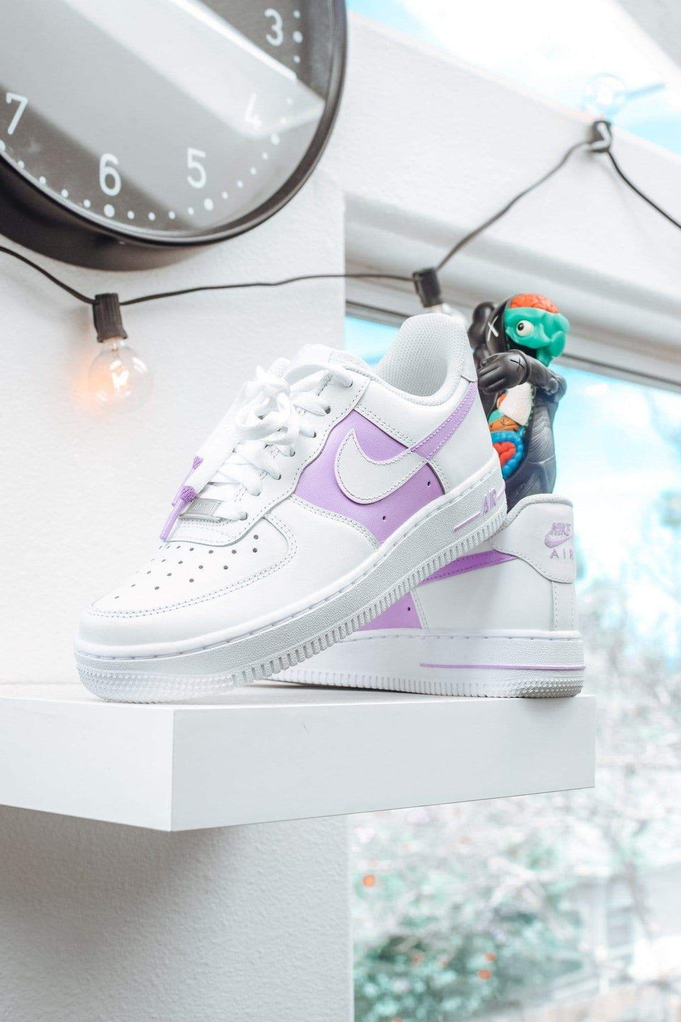 """50/50"" Light Purple Custom Air Force 1 - SandezOfficial"