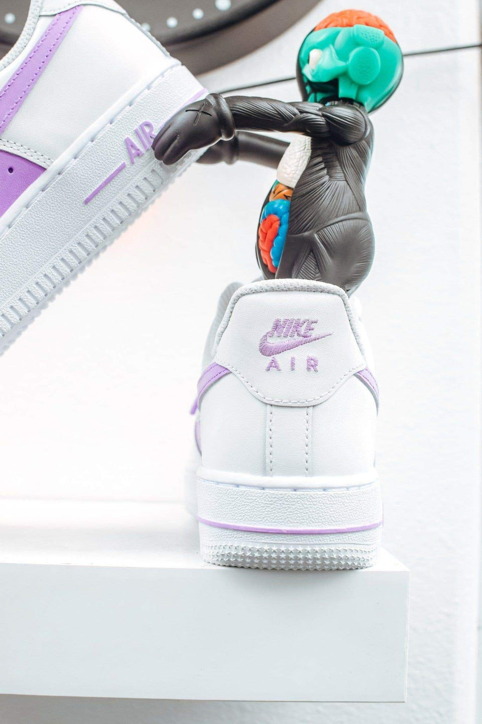 """50/50"" Light Purple Custom Air Force 1 - Sandez Official"