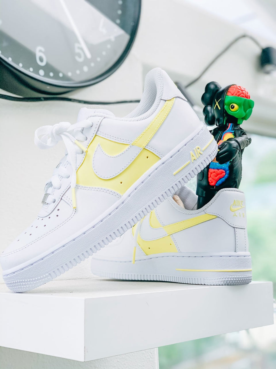 """50/50"" Light Yellow Custom Air Force 1 - Sandez Official"