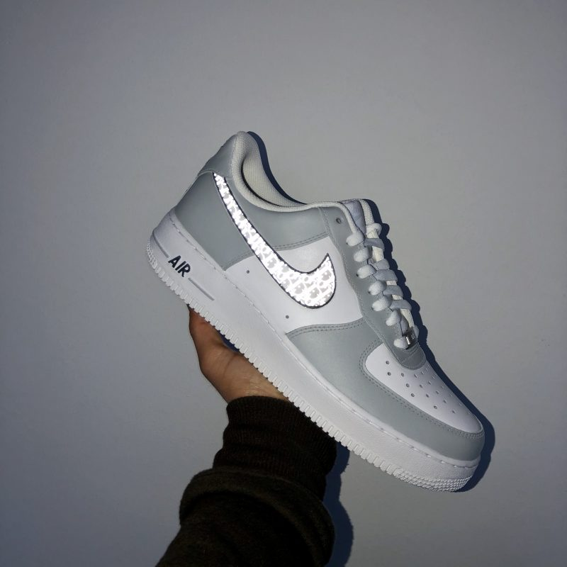 """Dior"" Reflective Custom Air Force 1"