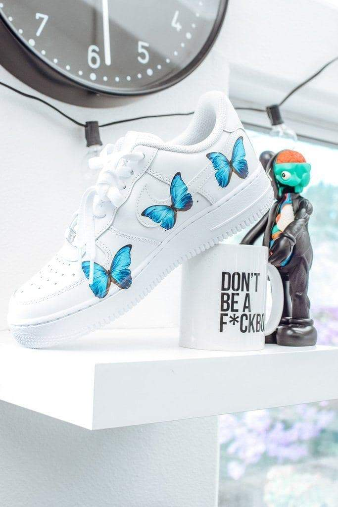 """Butterfly Force 1's"" Custom Air Force 1's - SandezOfficial"