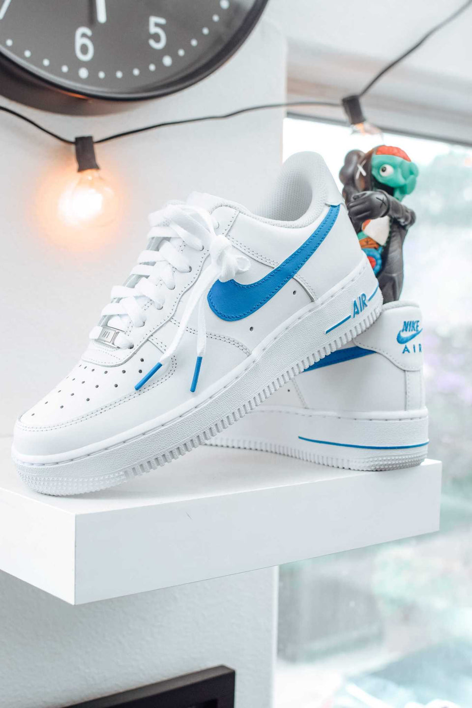 "Light Blue ""Swoosh"" Custom Air Force 1 - SandezOfficial"